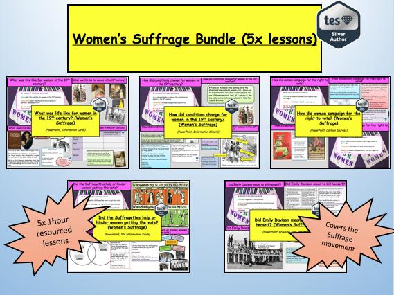 Women's Suffrage Bundle (5x lessons)