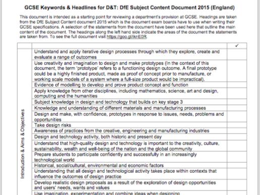 D&T Subject Content Keywords & Headline Review