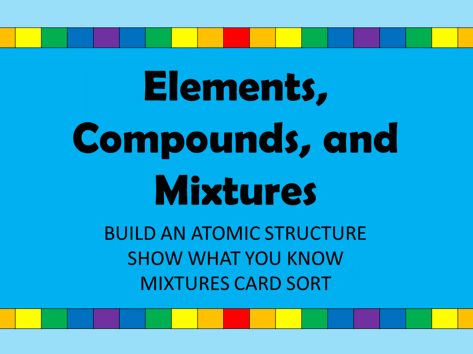 Element, Compound, Mixture Bundle