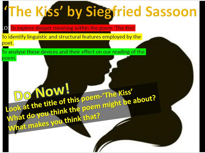 Poem Analysis - 'The Kiss' by Siegfried Sassoon
