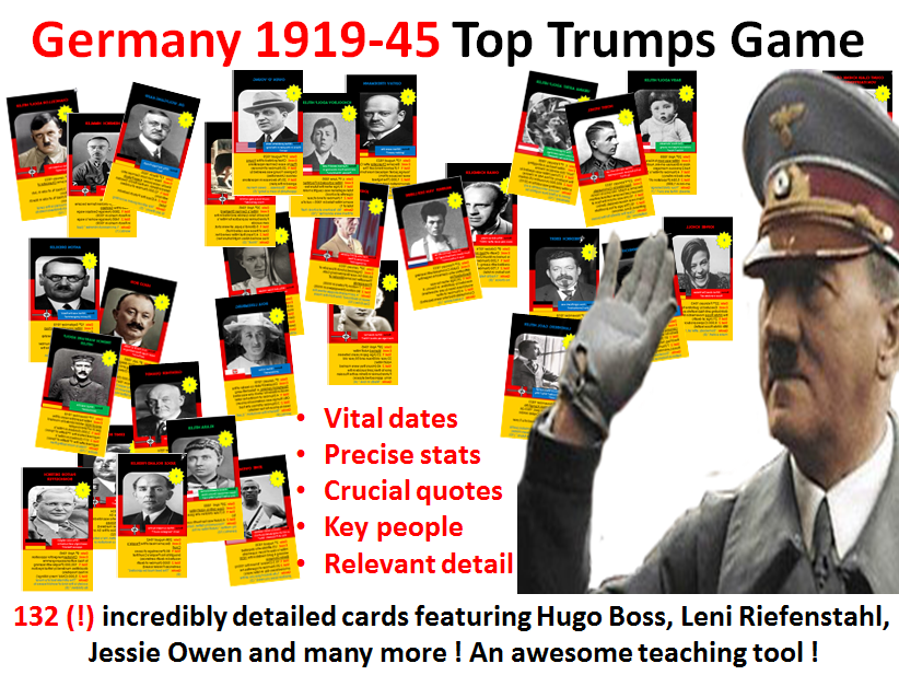 Weimar & Nazi Germany Top Trumps Game - 132 cards
