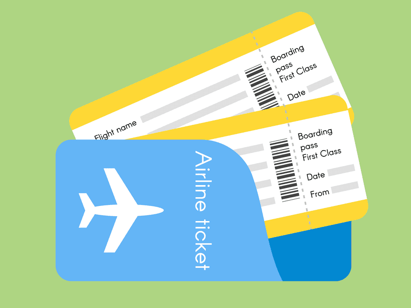 Airline ticket boarding pass – Earthquakes