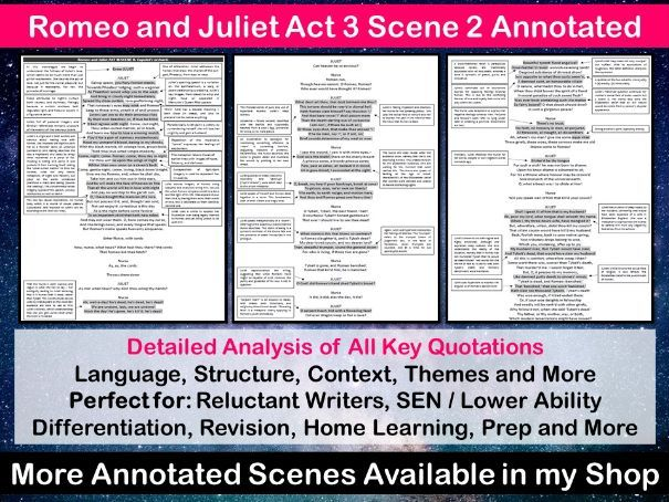 Romeo and Juliet Act 3 Scene 2 Annotated