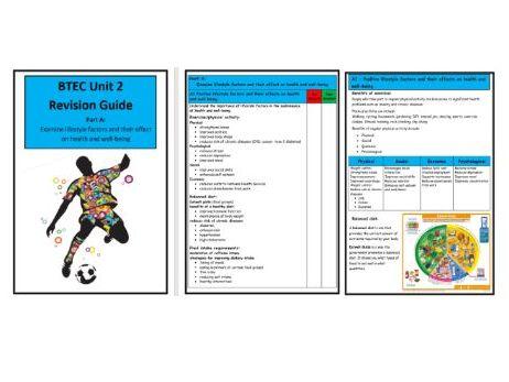 BTEC Level 3- Unit 2 - Revision Notes/Guide  - Part A Lifestyle factors