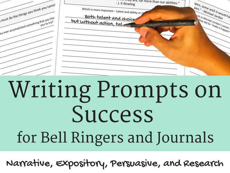 Writing Prompts on Success for Journals and Bell Ringers