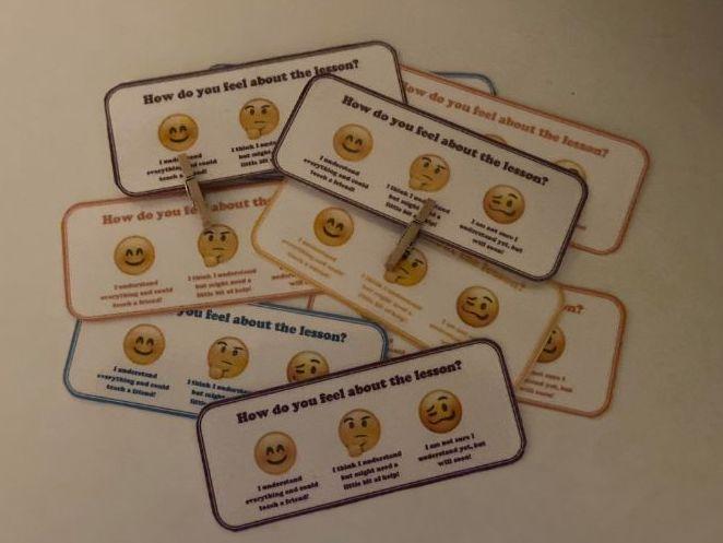 Emoji Self Assessment Cards