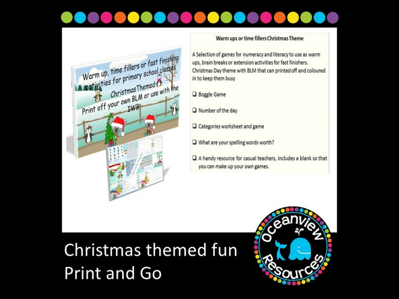 Christmas Themed Brain Breaks, Extensions or Early Finishing Activities,