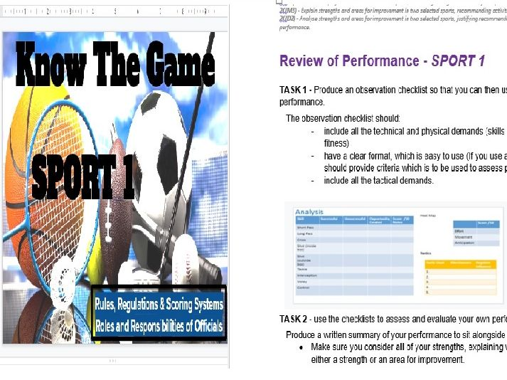 BTEC SPORT UNIT 2 Templates