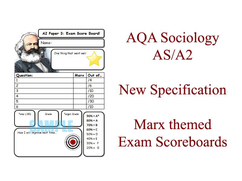 AQA Sociology [AS/A2] [Exam Scoreboards] (Feedback Sheets, Target Setting) (Marx Themed!)
