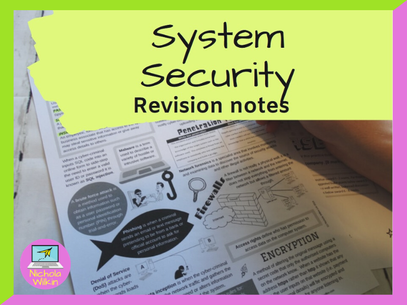 System Security Revision Knowledge Organiser