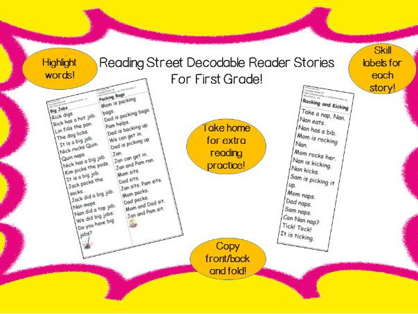 Decodable Reader - Tippy-Toe Chick (Final syllable ie; Dipthong ow)