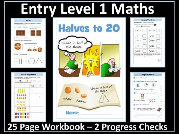 AQA Entry Level 1 Maths -Ratio - Fractions
