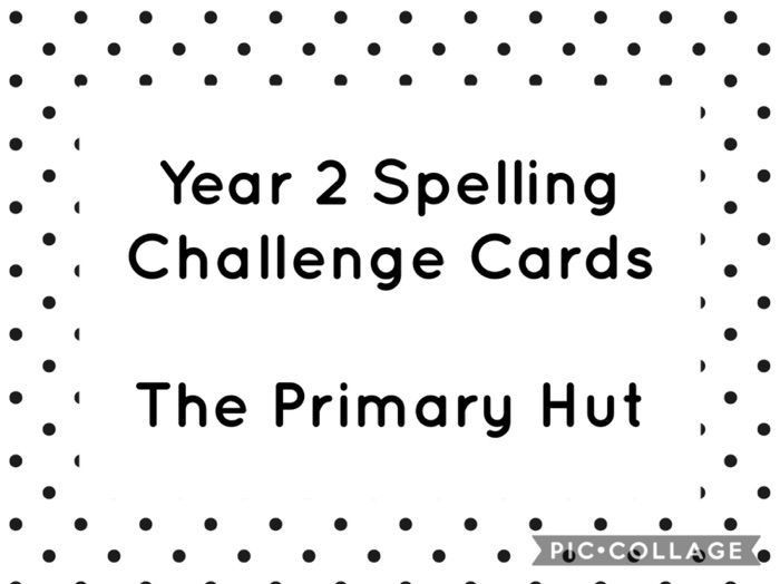 Year 2 Spelling Challenge Cards