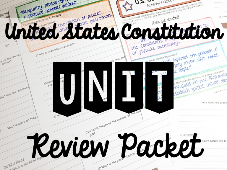 Constitution Unit Review Packet