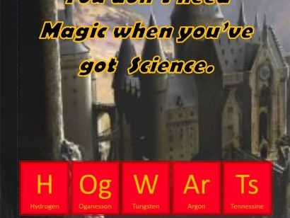 Harry Potter themed Science door poster