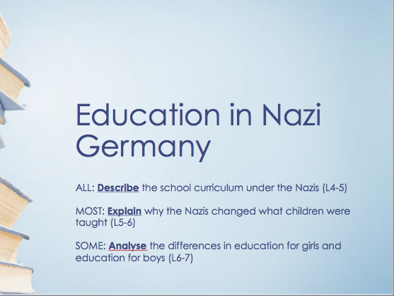 Education in Nazi Germany - Mixed Ability/Differentiated