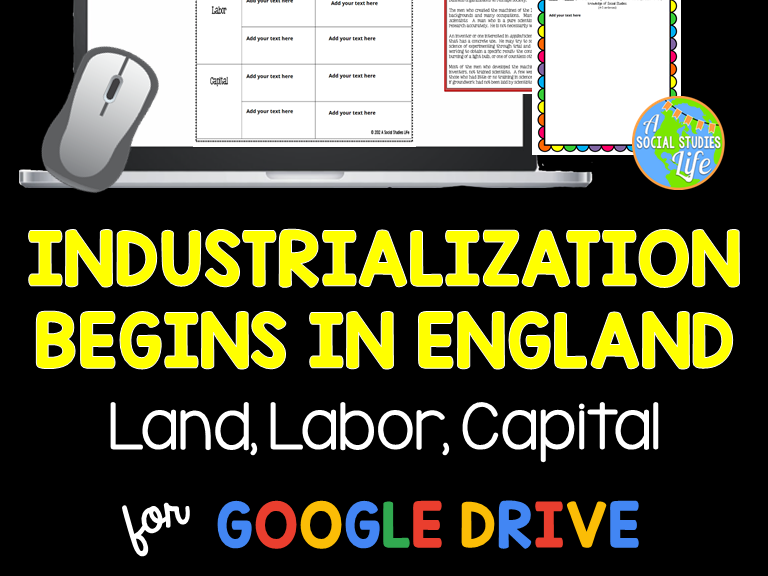 Industrial Revolution Begins in England - Land, Labor, Capital