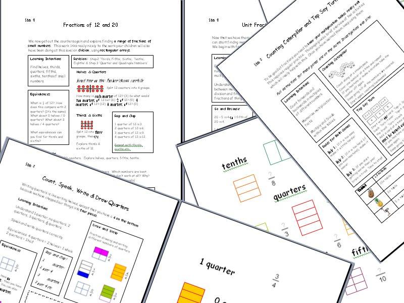 Understanding Fractions & Decimals - Practical Activities & Games - Part 1
