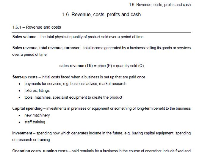 Edexcel Economics B - Theme 1.6 notes