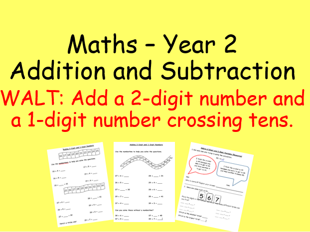 Adding a 2-digit number and a 1-digit number Year 2