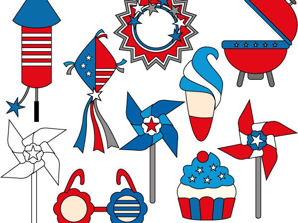 Fourt of July Party clipart - USA Independence day clip art