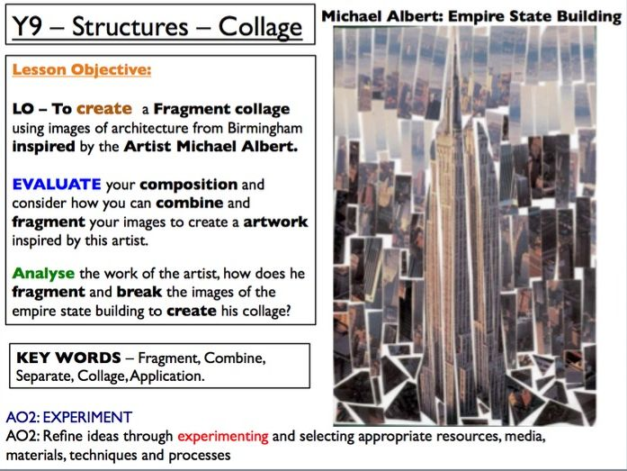 Birmingham Fragmented Architecture Collage Lesson