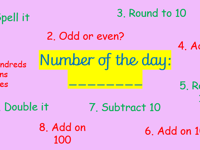 Number of the Day (template)