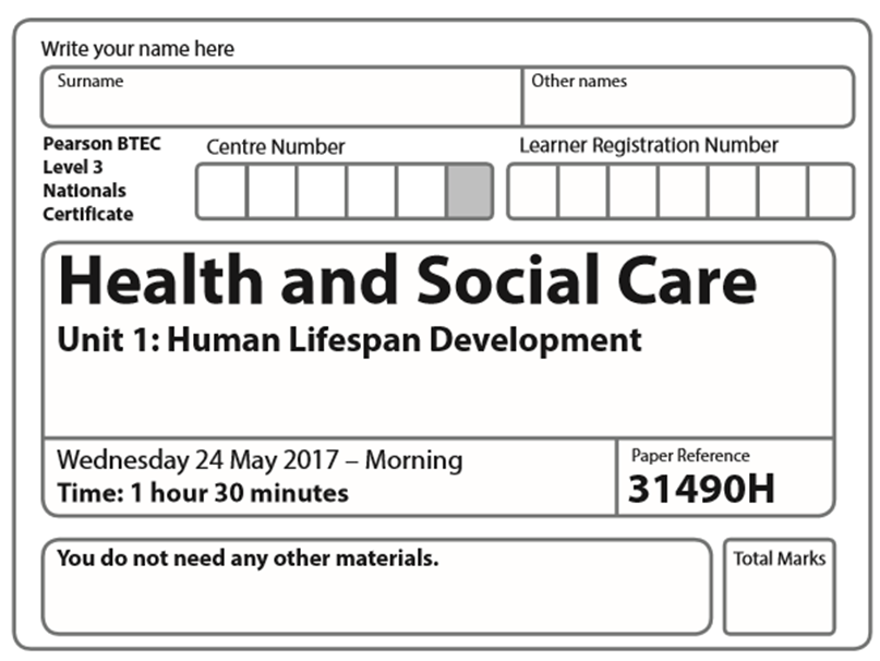 BTEC Health and Social Care Level 3 Unit 1 May 2017 paper ilustrated PowerPoint with answers
