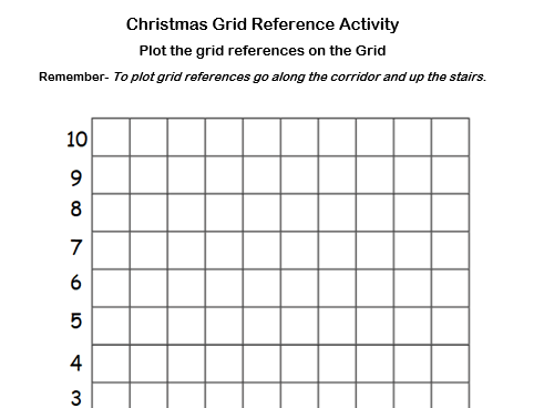 Christmas Maths-Colour In-Plot Co-ordinates