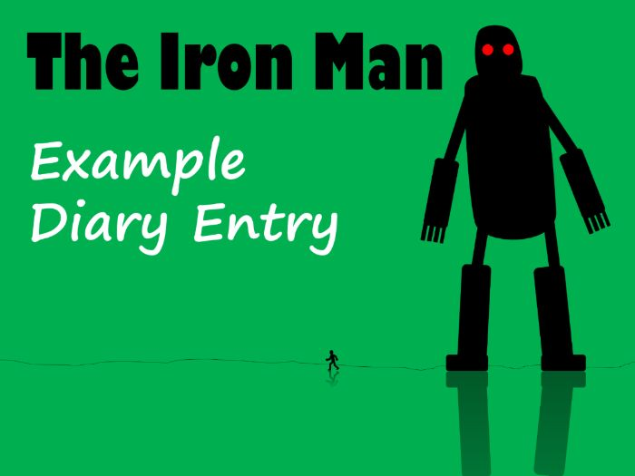 The Iron Man Example Diary Text with Feature Identification & Answers