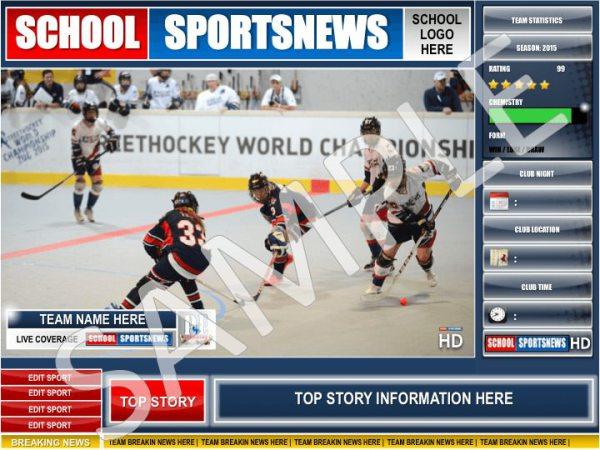 School Sports News HD Display Poster   PE4Learning