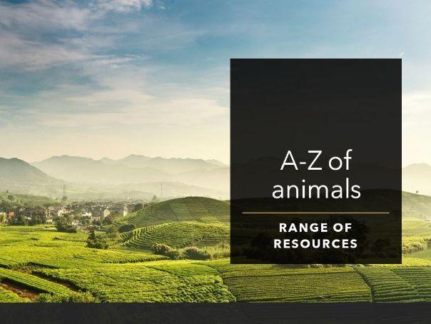 Alphabetic animals resources