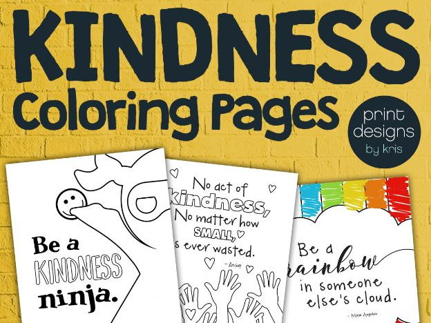 Kindness Coloring Pages by ktdesign Teaching Resources Tes