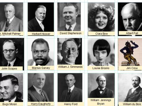 Eduqas / WJEC GCSE History REVISION ACTIVITIES USA 1910-1929