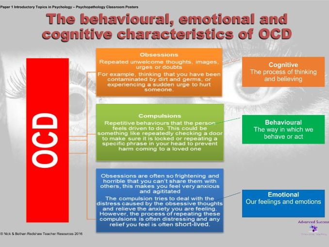 Poster - Psychopathology - The behavioural, emotional and cognitive characteristics of OCD