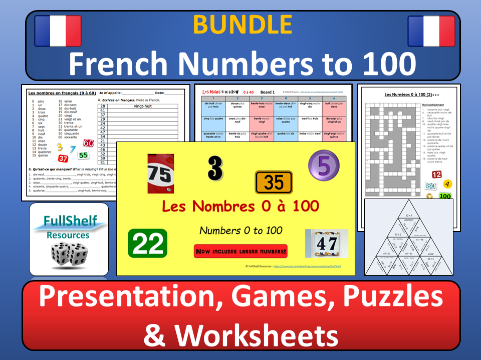 Les Nombres (French Numbers) BUNDLE