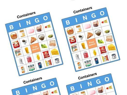 Containers bingo