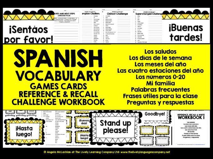 SPANISH VOCABULARY REVISION & PRACTICE 1