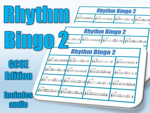 Rhythm Bingo 2 GCSE Edition Cards and Audio for Music Lessons