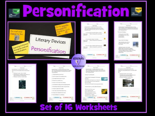 Personification: Set of 16 Worksheets