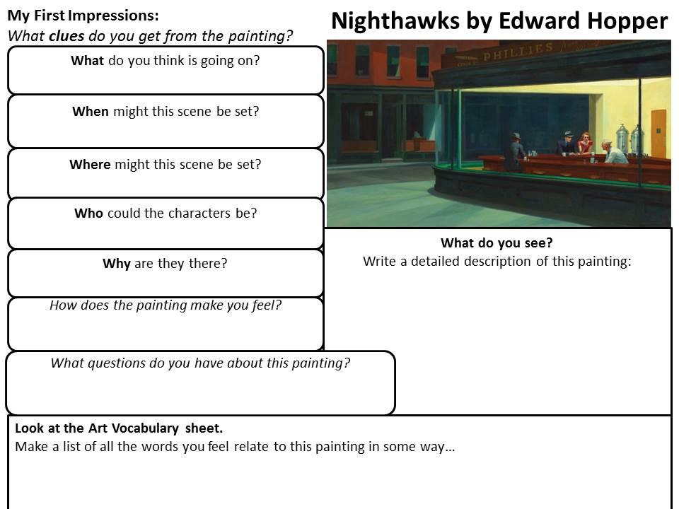 Edward Hopper. Artist Research. Beginning. End. Art. GCSE. 2017.