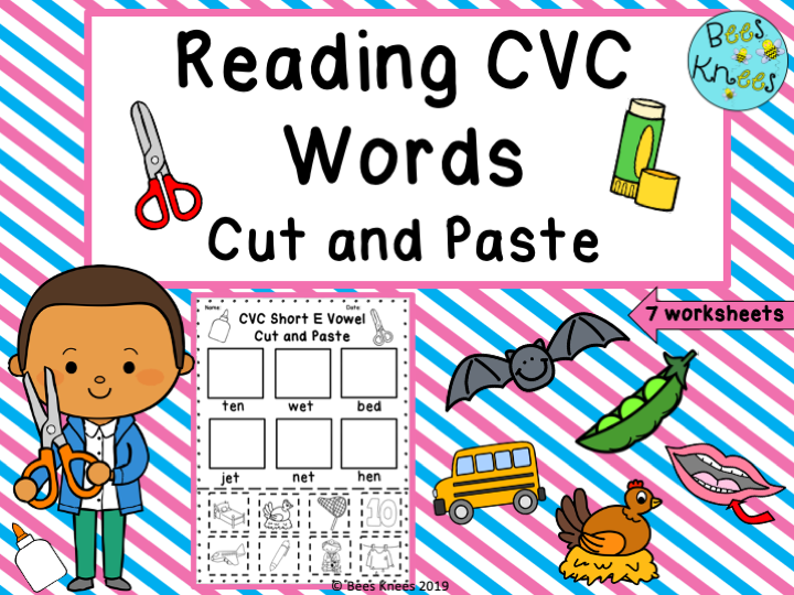 CVC Cut and Paste Worksheets