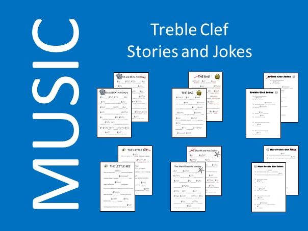 Treble Clef Stories and Jokes - Printable and Digital