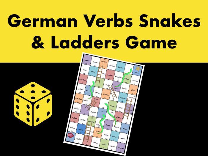 German Verbs Snakes & Ladders Game