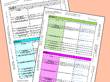 GCSE Poetry (Power and Conflict) Writing Frame