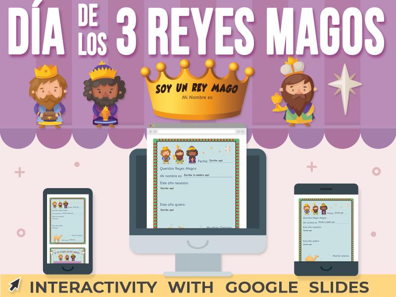 Día de los Tres Reyes Magos - Actividad Google Slides