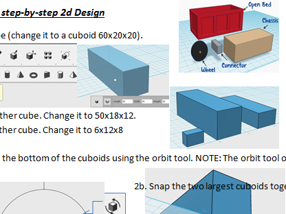 3D CAD Freight train step-by-step for 123d Design