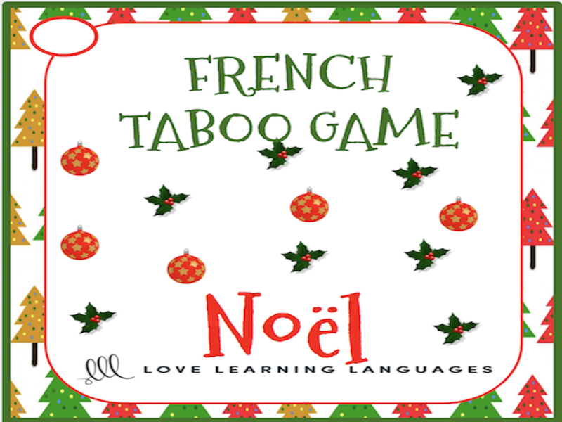 GCSE FRENCH: French Christmas Taboo Game - Noël