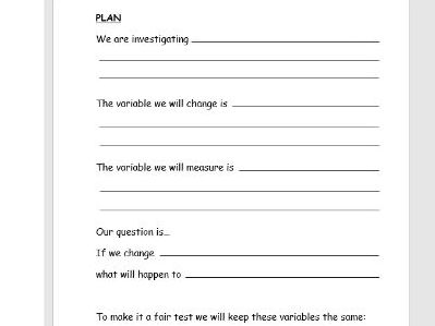 Plant Investigation Booklet