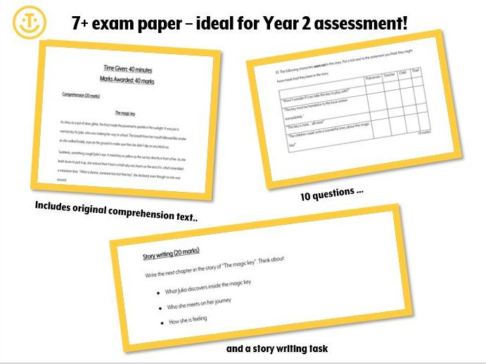7+ Comprehension and writing paper - Y2 assessment
